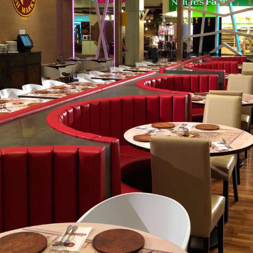Modern Real Leather Circle Restaurant Booth Seating Buy