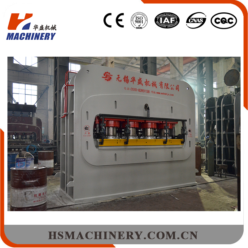 China manufacturer hot press particle board laminating machine