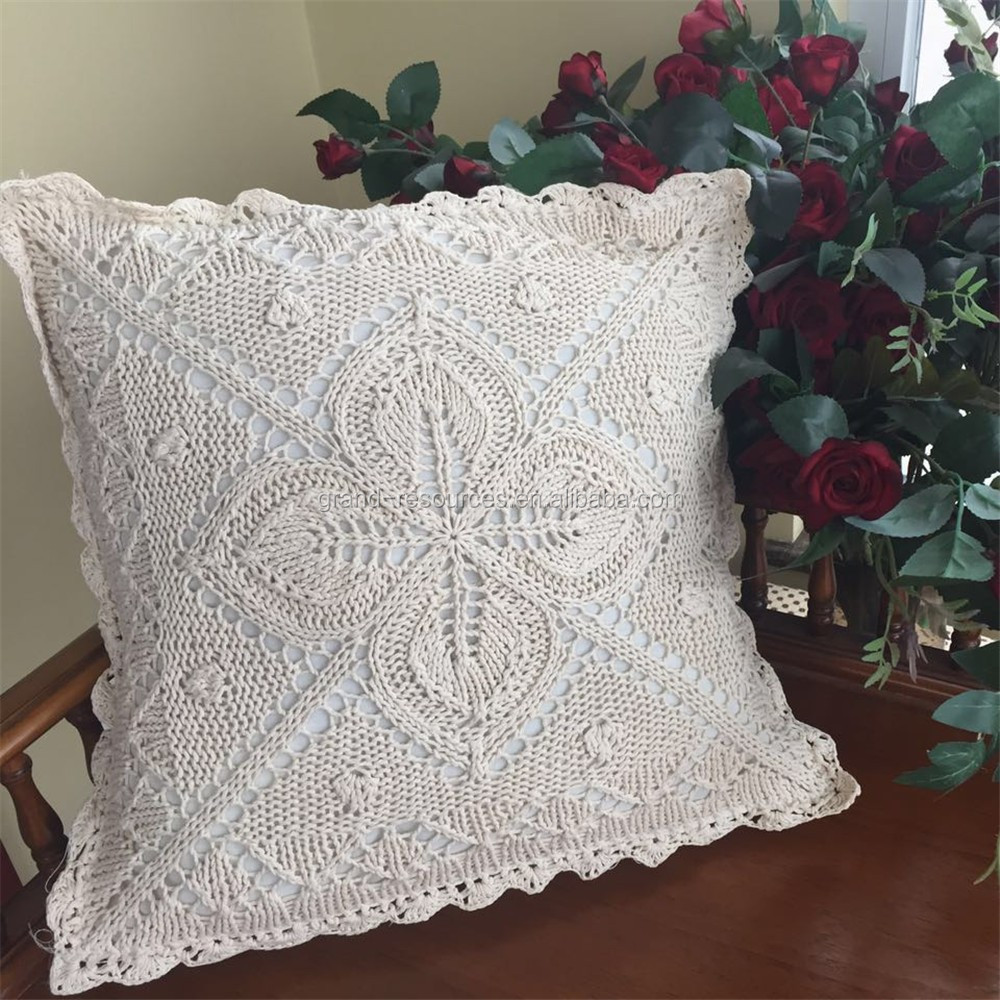 Latest design cushion cover100% cotton crochet cushion cover / pillow cover