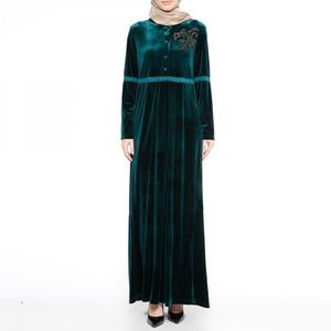 Velveteen Middle Eastern Islamic muslim dress with high quality to sale 193487