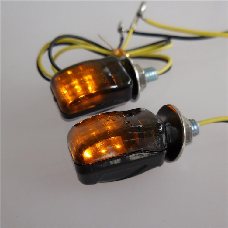 Motorcycle Custom 2x 12V Smoke Lens Turn Signal Lights Amber For Sport Bikes US