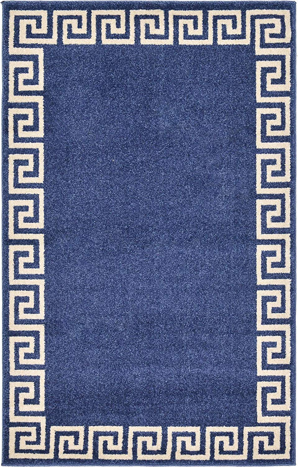 A2Z Rug Modern Contemporary Area Rug Geometric Navy Blue 3' 3'' x 5' 3'' FT Santorini Collection Rugs - rugs for living room - rugs for dining room & bedroom - Floor Carpet