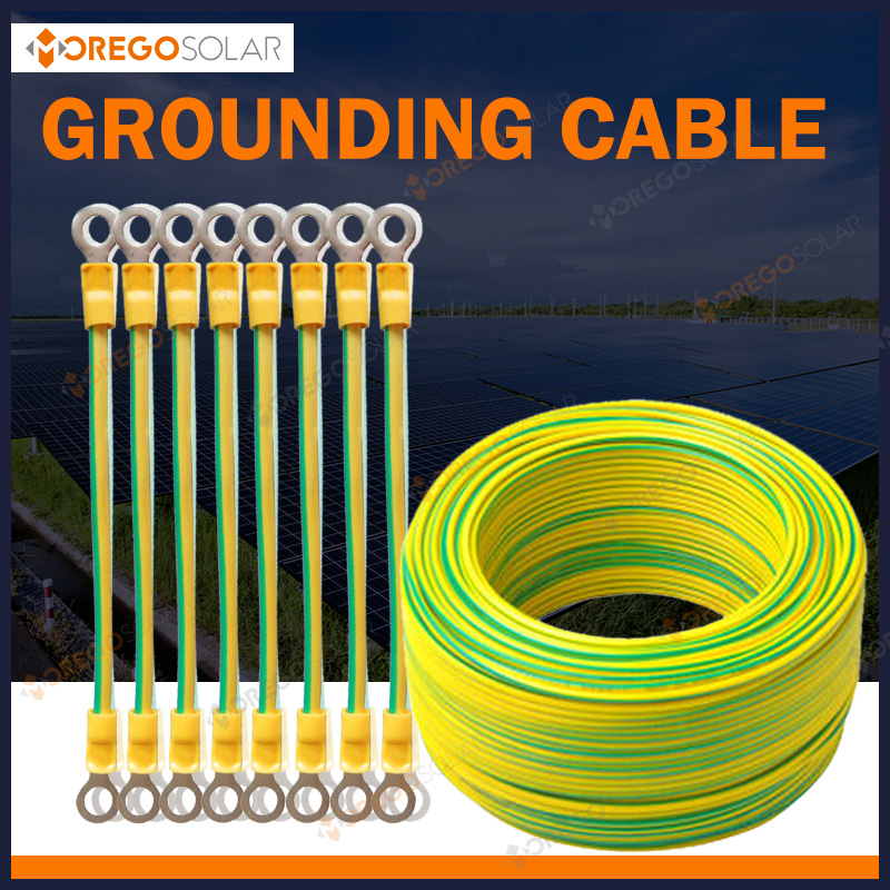 Yellow green grounding pv solar cable made in China with TUV certification