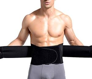 6a4189fca78 Healthcom Lower Back Brace Adjustable Breathable Compression Waist Trimmer  Trainer Body Shaper Lumbar Support Belt(