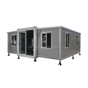 Australia foldable cabin 40ft prefab folding container homes expandable granny flat for sale