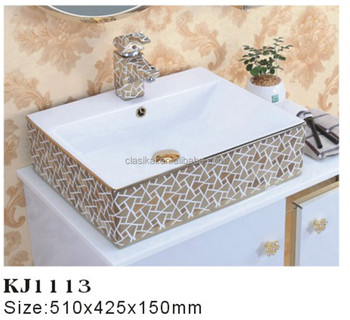 Simple Design Bathroom Standard Above Counter Top Italian Wash Basin