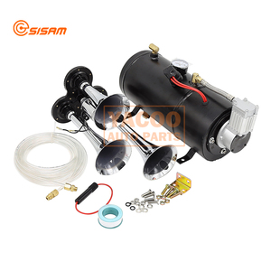 Big Truck Train Air Horn Air Tank Kit with Silver Color Compressor Horn popular for USA market
