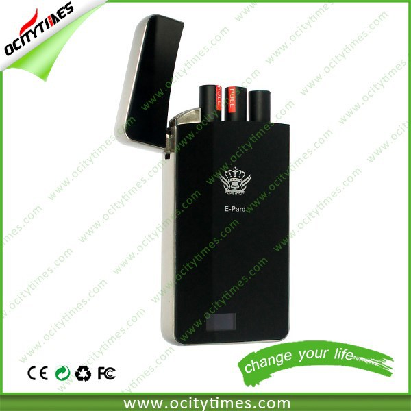 The smallest E cig Pocket pcc electronic cigarette E pard with charging case