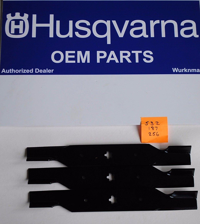 """HUSQVARNA GENUINE OEM Set of 3 HILIFT 54/"""" Blades for 187256  532187256 CRAFTSMAN"""