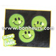 New Novelty Toy Green Emoji Face 27Mm Glow In Dark Smile Ball