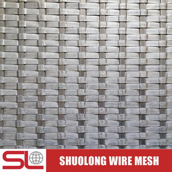 Shuolong Mesh Rigid Series XY-0107 Aluminum Alloy Decorative Wire Mesh for Partition
