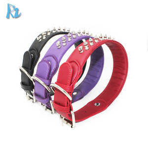 Rivets Studded Padded Leather Dog Collar Large Dog Collar Studs