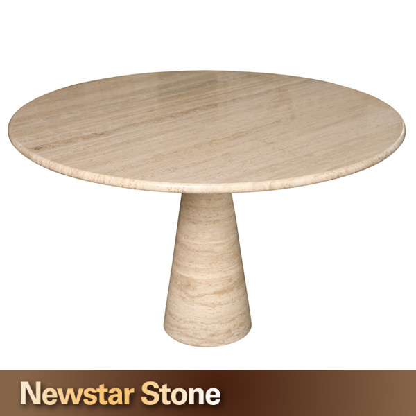 Superior Made In China Polished Round Travertine Stone Table Top