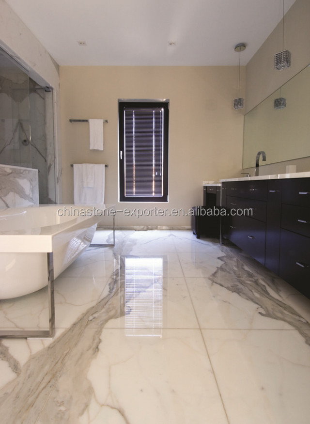 Italian Calacatta White Marble Bathroom Tile Design Buy Bathroom Tile Design Bathroom Tile