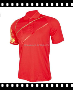 Men Latest Design Red Polo T-Shirt With Printed Dragon