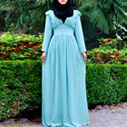 2019 Hot sell Modesty Latest Design chiffon double layers women long dress abaya online usa cheap maxi dresses shop online