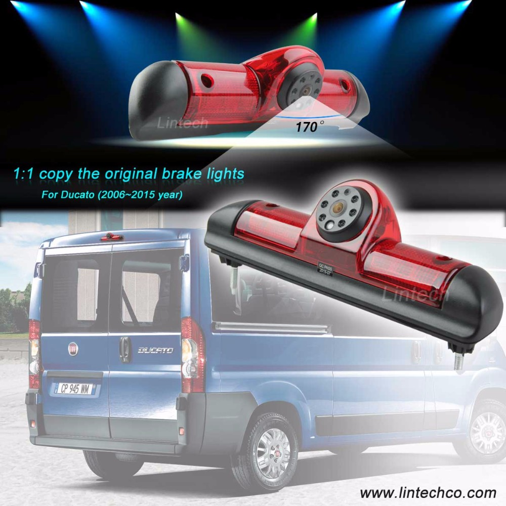 2017 new 580TVL 170 degree ccd automotive rear view camera for fiat ducato
