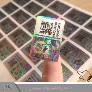 Professional Hologram Sticker and Labels with QR Code
