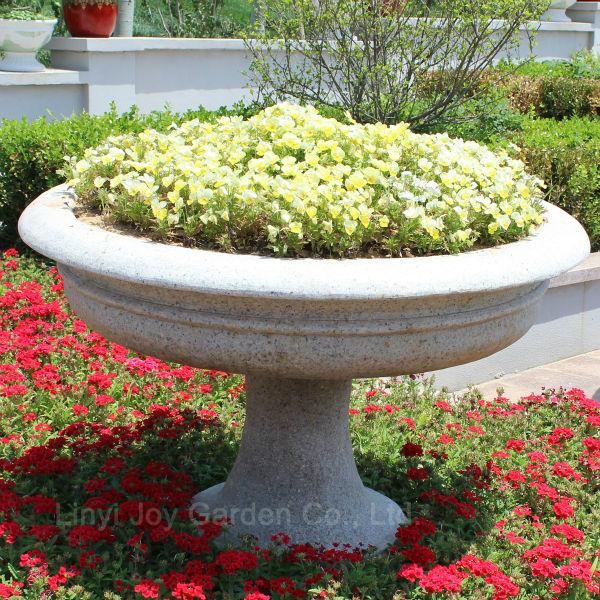 Hot Sale Outdoor Decorative Plant Pot Large Stone Garden Pot - Buy ...