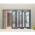 ROGENILAN 75 series factory price bifold aluminum glass door and window for office