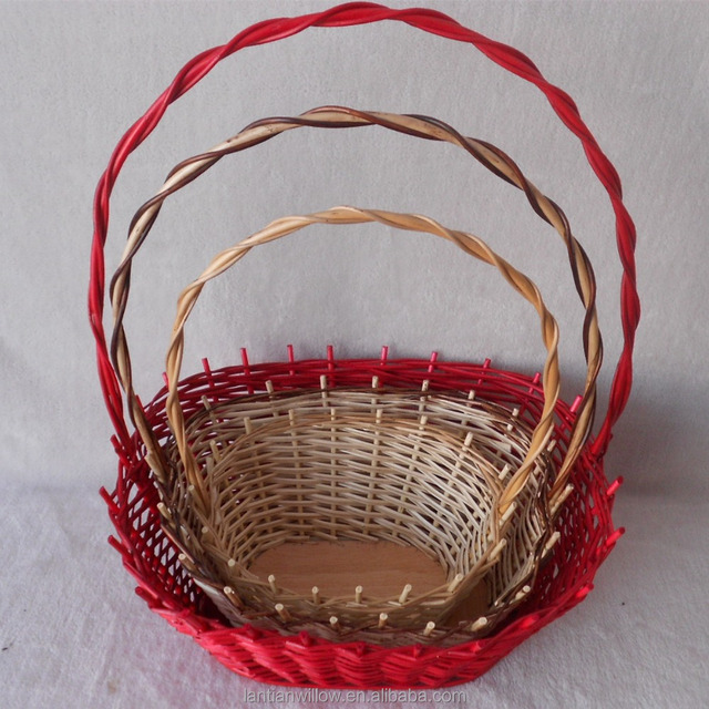 Manejar mimbre cesta mango sauce cesta cesta de mimbre de almacenamiento  con mango cf5d3687ce31