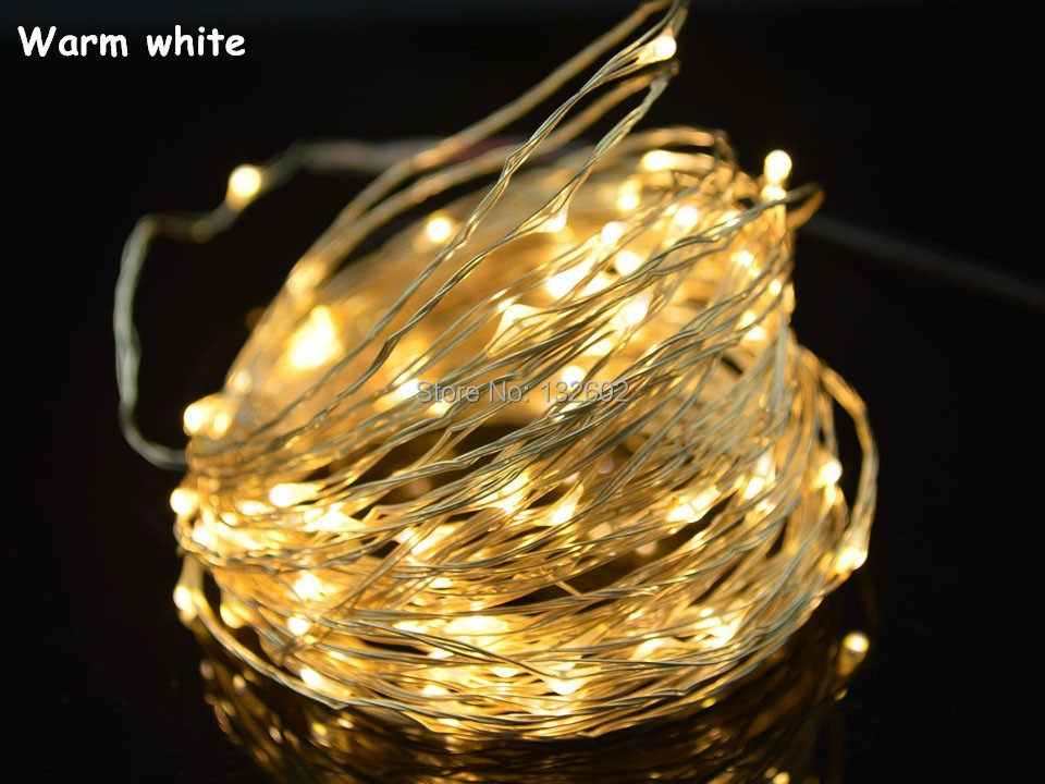 Hot Sale 7 Colors 10M 100 LED Copper Wire LED String Fairy Lights Lamp For
