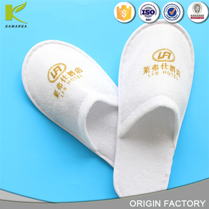 Chinese velour washable custom logo hotel slipper woman or lady disposable hotel guest spa slippers