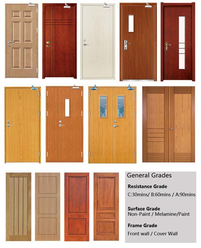 Bs 476 Tested 60 Minutes Wood Veneer Fire Rated Door - Buy Veneer ...