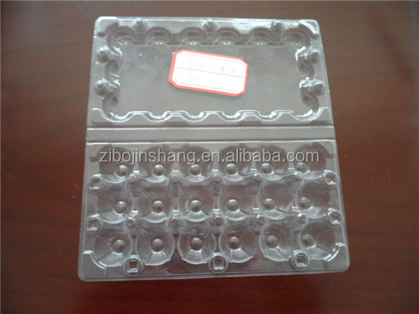 PVC PET high transparent 18 cells clamshell package tray for quail eggs