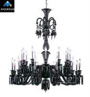 24 Lights rustic vanity crystal lighting