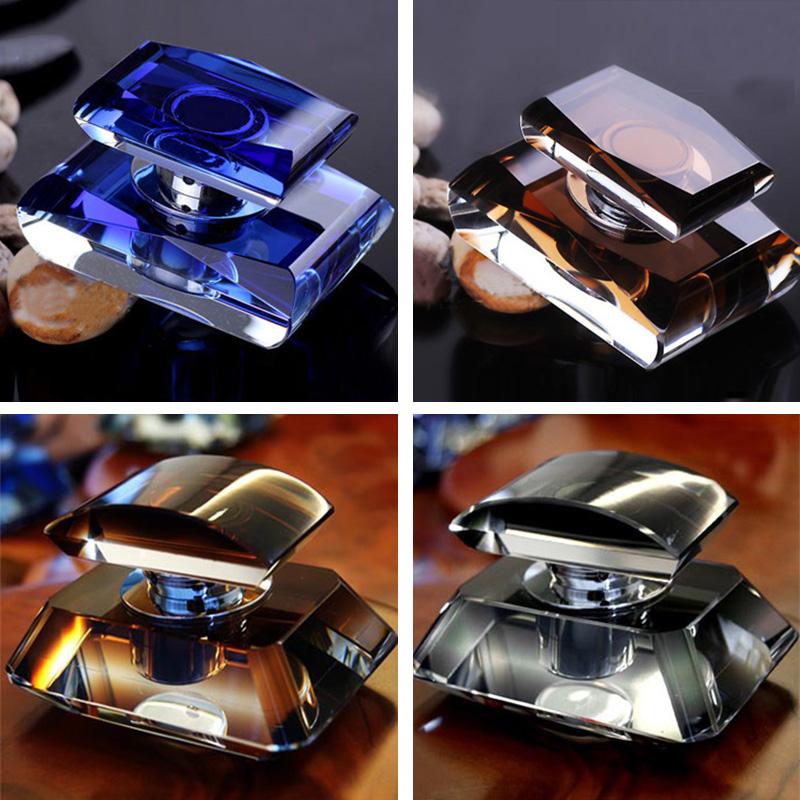 Wholesale 50ml Diamond shaped K9 Crystal perfume bottle for car air freshener vent