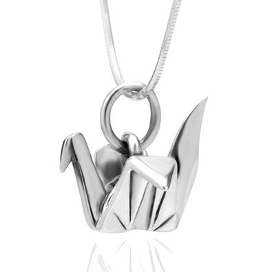 Origami Crane Charm Chinese Paper Fold Bird NEW 925 Sterling Silver