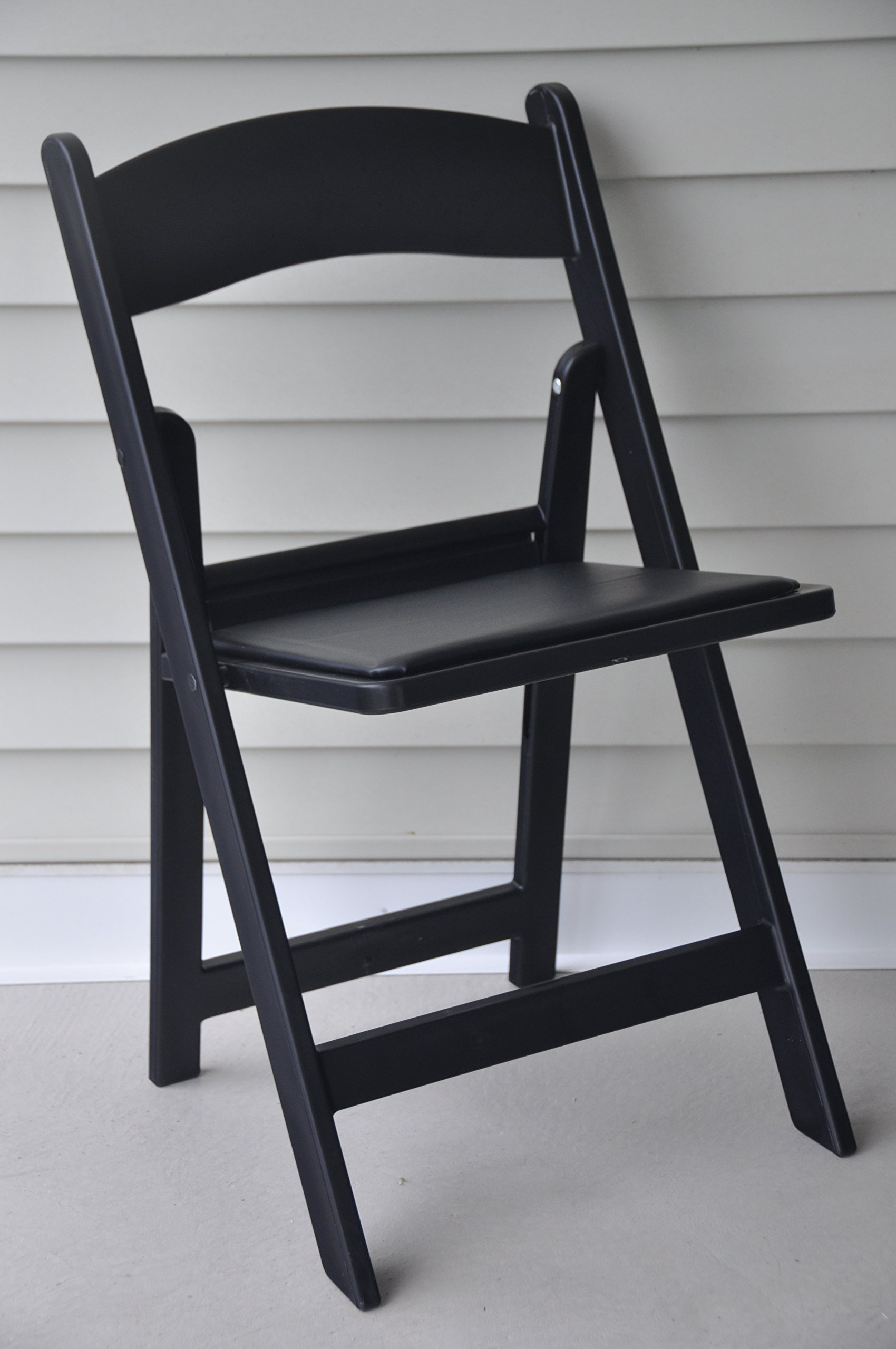 Beau Get Quotations · Folding Chairs   Black Resin Heavy Duty Stackable Folding  Banquet Chairs   4 Pack