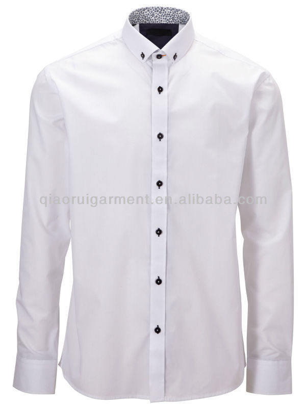 Mens White Button Down Collar Dress Shirt - Buy Mens Button Down ...