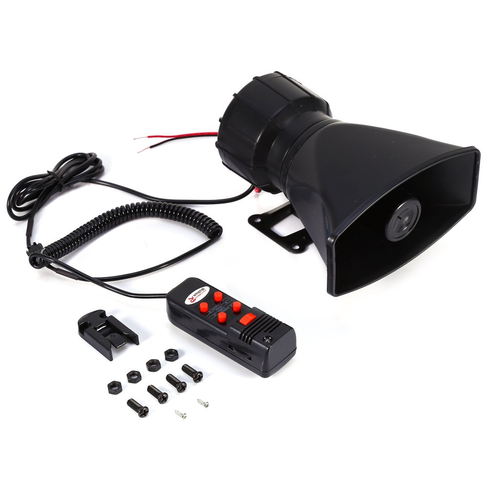 60W 12V 5 Sound for Car Truck Loud Horn Siren Police Firemen Ambulance  Warning Alarm With MIC 300db Loudspeaker