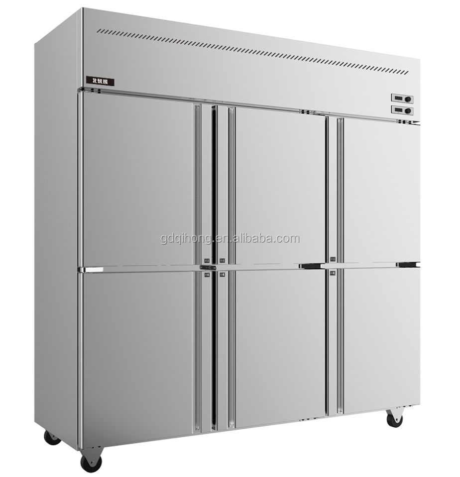 LCF-6M2D commercial refrigerator Stainless Steel industrial freezer price