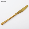 Matte Gold Table knife