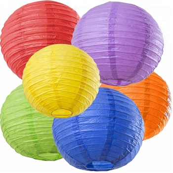 Wholesale Weddings /Parties /Events Decorations Global Shape Chinese Round Paper Lanterns