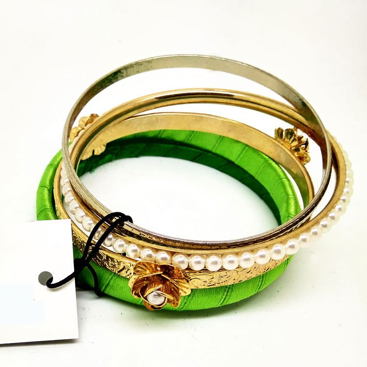 Indian handmade latest design silk thread bracelet bangle making