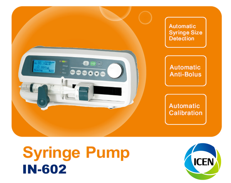 IN-G602 Hospital clinic cheap single channel electric medical syringe pump for patients and vet