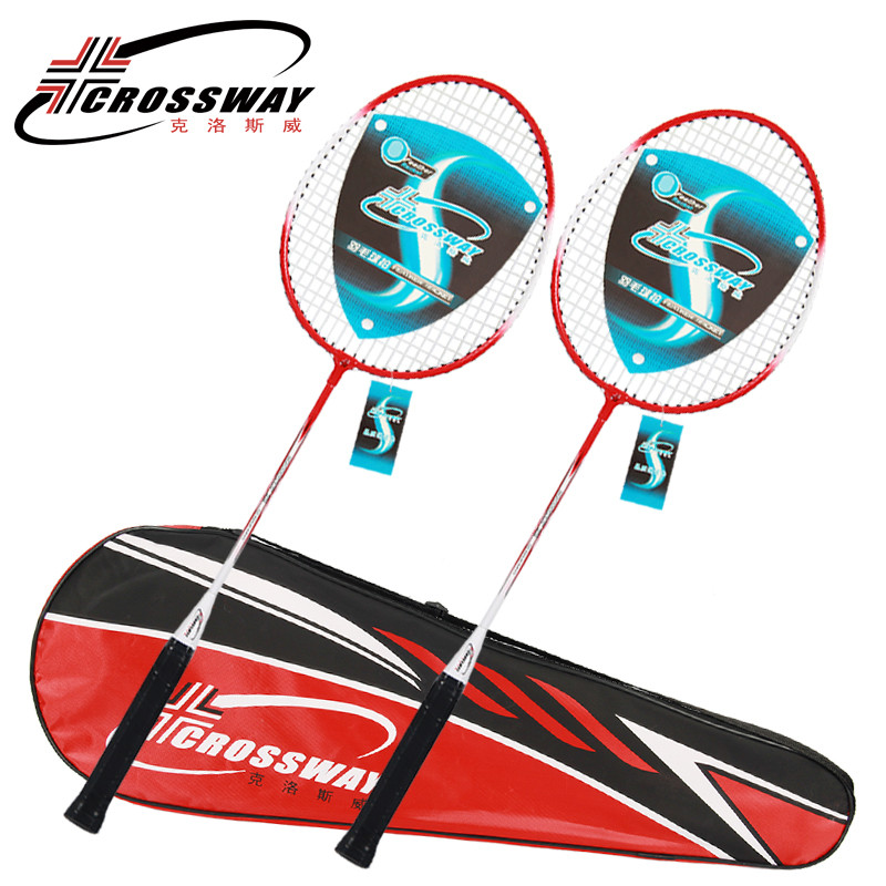 Hot selling low price customized Ferroalloy badminton racket for entertainment
