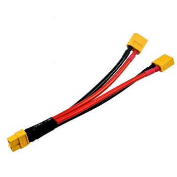 12AWG EDITION NEW 2x DUAL LIPO XT60 Parallel Y Cable Harness Connector Cable