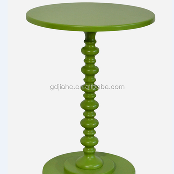 USA Antique Tray Top Round End Table Antique Outdoor Round End Table