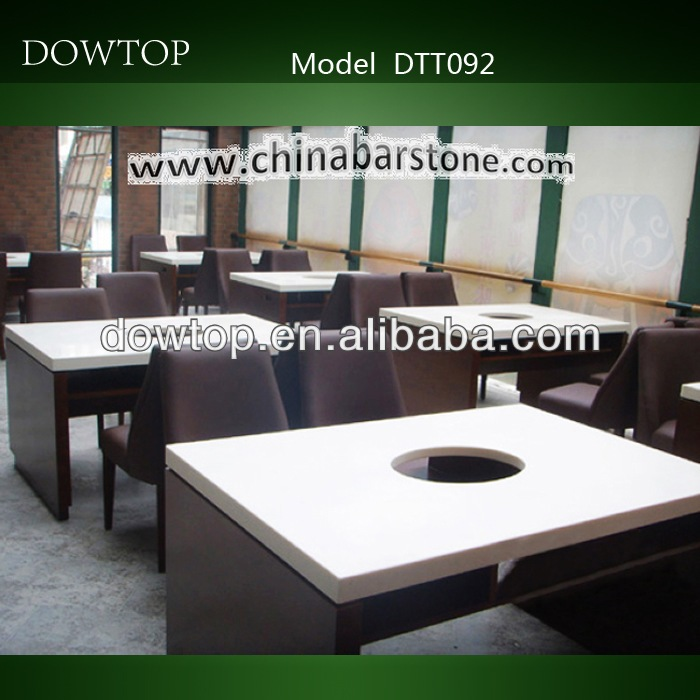 Chinese dishes marble hot pot table