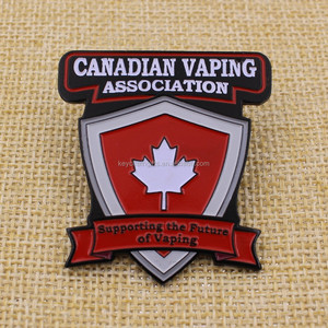 Custom metal Canada flag lapel pin/maple leaf pin badges with Logo
