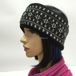 flat machine girls fashion knitted neck warmer cold head band