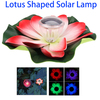 Lotus Shaped Outdoor Garden Lawn Solar Powered Lamp