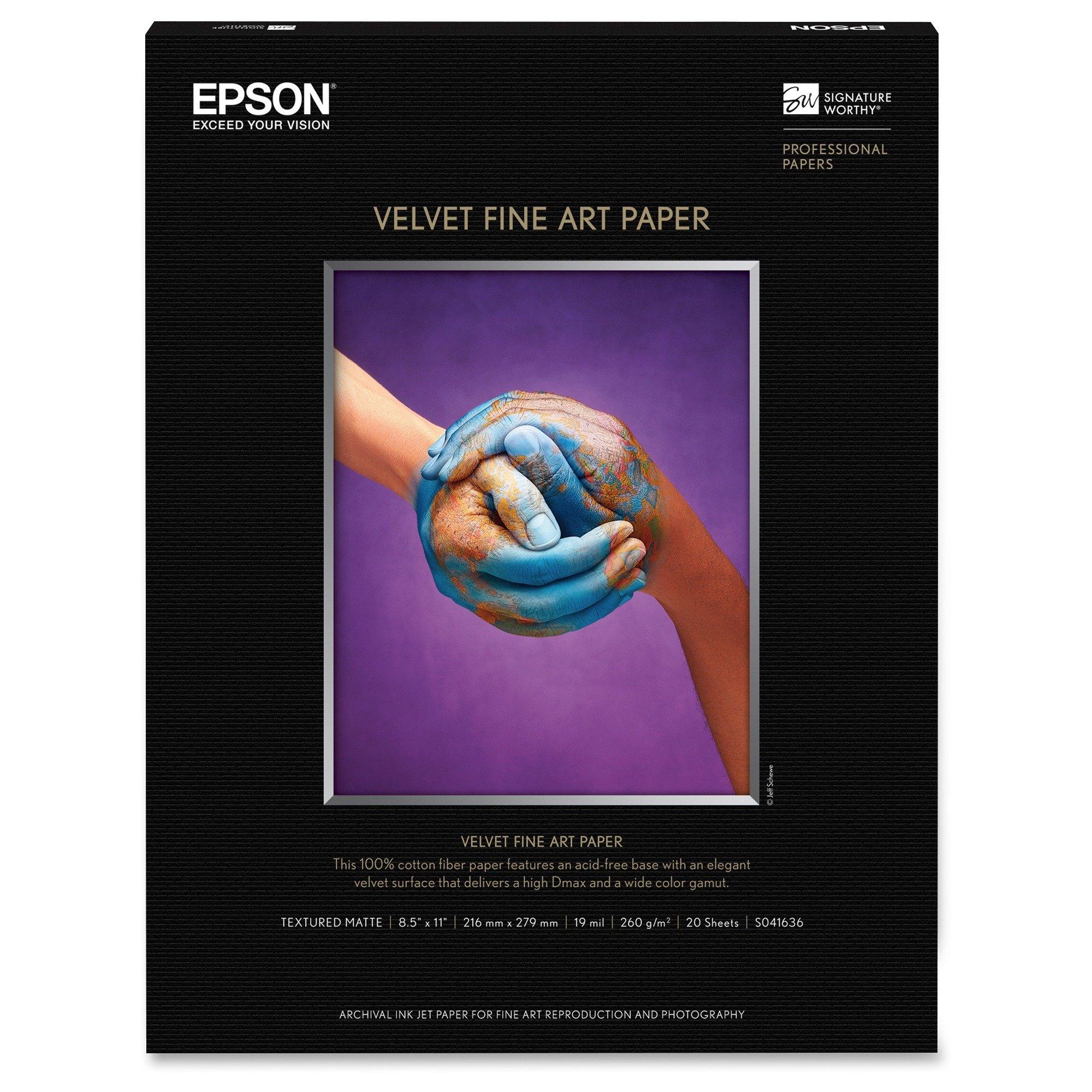 Epson America S041636 Velvet Fine Art Paper