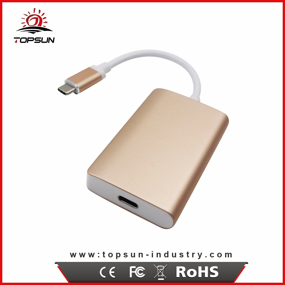 China Supplier type c to type c oem usb hub with 2 usb 3.0 port