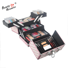 Sets verpakking hoge kwaliteit aluminium case <span class=keywords><strong>professionele</strong></span> kleur cosmetica makeup kit